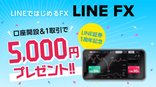 LINE FX 口座開設 やり方 キャンペーン